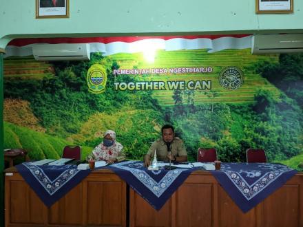 Pertemuan Pemerintah Kalurahan Ngestiharjo Dengan Poksar BKK P2MD