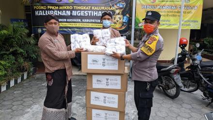 Bantuan 400 Masker dari Polsek Kasihan