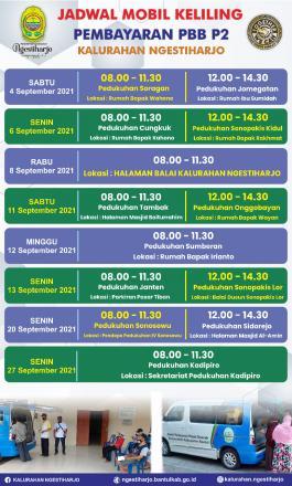 Jadwal Pelaksanaan Pembayaran Pajak PBB P2 Bulan September